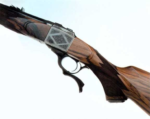Beautiful scroll on a Ruger sigle shot rifle.